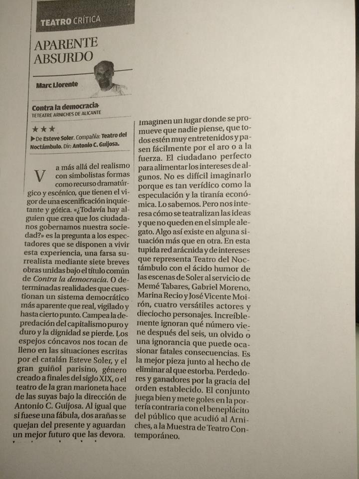 crítica contra-Marc LlORENTE